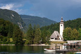 Bled lake Julian Alps in Slovenia — Stock Photo