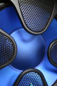 Blue subwoofer — Stock Photo