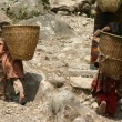 Nepal porters - Stock Photo