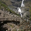 Stock Photo: Waterfall AnnapurnTrek in Himalaya