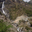 Annapurna Trek in Himalaya Waterfall — Stock Photo