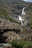 Waterfall Annapurna Trek in Himalaya — Stock Photo