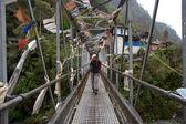 Hanging bridge — Stock Photo