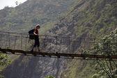Trekking nepal — Stock Photo