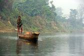 White river boat — Stock Photo