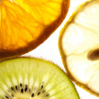Royalty-Free Stock Photo: Tangerine kiwi and lemon