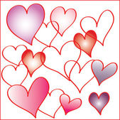 набор сердец — Cтоковый вектор
