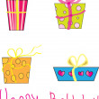 Royalty-Free Stock Vector Image: Birthday presents