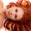 Stock Photo: Flowered hair 3