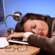 Businesswoman asleep 2 — Stock Photo