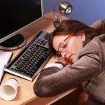 affärskvinna sover — Stockfoto