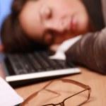 Glasses of a sleepy — Stock Photo