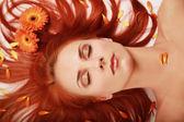 Flowered hair 2 — Stock Photo