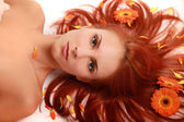 Flowered hair 3 — Stock Photo