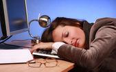 Podnikatelka spí 2 — Stock fotografie