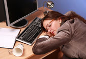 Businesswoman asleep — Stock Photo