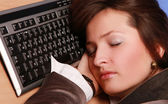 Manager asleep — Stockfoto