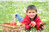 Play with apples — Stock Photo