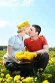 Spring kiss — Stock Photo