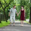 Walking in park — Stock Photo