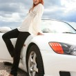 White luxury car — Stock Photo #2371648