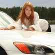 Stock Photo: White luxury car