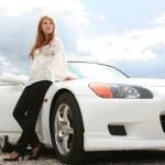 White luxury car — Stock Photo
