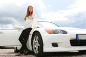White luxury car — Stock Photo