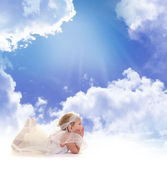 Angel in lucht — Stockfoto