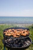 Barbecue & sea — Stock Photo