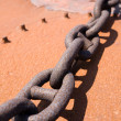 Rusty steel chain — Stock Photo