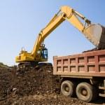 Excavator & truck — Stock Photo #1802287