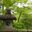 Ancient japanese lantern - Stock Photo