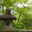 Ancient japanese lantern — Stock Photo