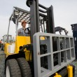 Man forklift — Stock Photo