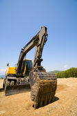 Máquina escavadora — Fotografia Stock