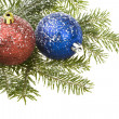 Royalty-Free Stock Photo: Christmas Ball & snow