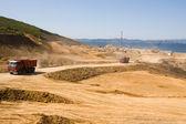 Construction of new seaport — Stock Photo