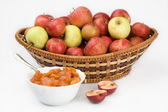 Apple and preserves — Stock Photo