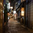 Stock Photo: Night alley. Osaka. Japan.