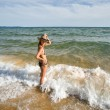 Young woman and sea - Stock Photo