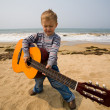 Little guitarist - Stock Photo