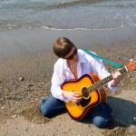 Wandering musician — Stock Photo #2689353