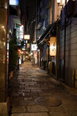 Night alley. Osaka. Japan. — Foto de Stock