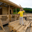 Construction of a new camping — Stock Photo