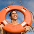 Boy and lifebuoy — Stock Photo #2691546