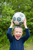 Child and ball — Stock fotografie