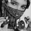 Art photo of arabian girl — Stock Photo