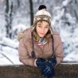 Stock Photo: Teenage girl in snow
