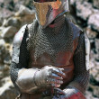 Armored medieval knight — Stock Photo